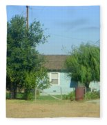 Walnut Grove - Typical Rural Farm House Fleece Blanket