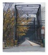 Walnut Street Bridge Looking At Harrisburg Fleece Blanket