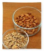 Walnuts And Almonds Fleece Blanket