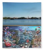 Walt Disney World Cars 2 Digital Art Composite 02 Fleece Blanket