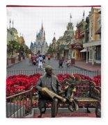 Walt Disney World Transportation 3 Panel Composite 02 Fleece Blanket