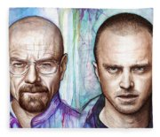 Walter And Jesse - Breaking Bad Fleece Blanket