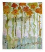 Waltz Of The Flowers Fleece Blanket
