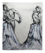 Waltzing With You Fleece Blanket