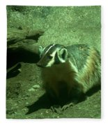 Wandering Badger Fleece Blanket