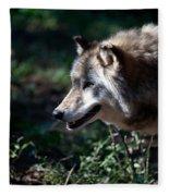 Wandering Wolf Fleece Blanket
