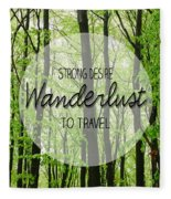 Wanderlust Fleece Blanket