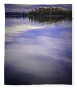 Wanigan View Of Au Sable River Fleece Blanket