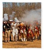 War - Revolutionary War - The Musket Drill Fleece Blanket