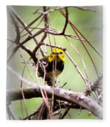 Warbler - Black-throated Green Warbler Fleece Blanket