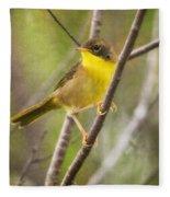 Warbler In Sunlight Fleece Blanket
