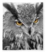 Watching You Owl Fleece Blanket