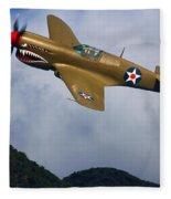 Warhawk Curtiss P-40  Fleece Blanket