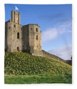 Warkworth Castle In Spring Fleece Blanket