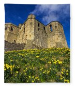Warkworth Castle In Spring Fleece Blanket