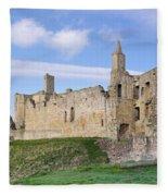 Warkworth Castle Panorama Fleece Blanket