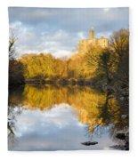 Warkworth Castle Reflected Fleece Blanket