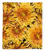Warm And Sunny Yellows Golds And Oranges Fleece Blanket