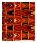 Warm Colors Lines And Swirls Abstract Fleece Blanket