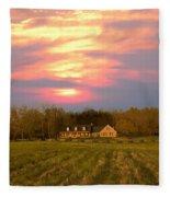 Warm Spring Sunset Fleece Blanket