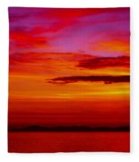 Warm Sunset Fleece Blanket