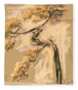 Warm Tree Fleece Blanket