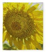 Warmth Upon My Back - Sunflower Fleece Blanket