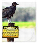 Warning Fleece Blanket