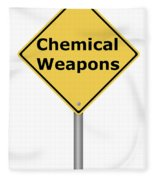 Warning Sign Chemical Weapons Fleece Blanket