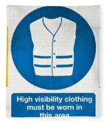 Warning Signs Fleece Blanket