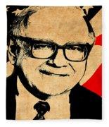 Warren Buffett Fleece Blanket