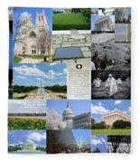 Washington D. C. Collage 2 Fleece Blanket