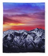 Wasatch Sunrise 2x1 Fleece Blanket by Chad Dutson