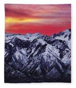Wasatch Sunrise 3x1 Fleece Blanket