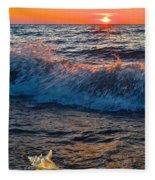 Washing Ashore Fleece Blanket