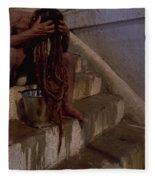 Varanasi Hair Wash Fleece Blanket