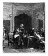 Washington And Lafayette Fleece Blanket