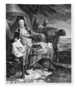Washington At Yorktown Fleece Blanket