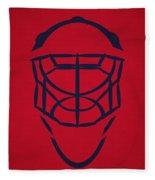 Washington Capitals Goalie Mask Fleece Blanket