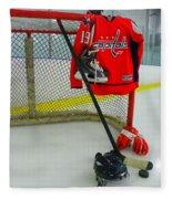 Washington Capitals Nicklas Backstrom Home Hockey Jersey Fleece Blanket