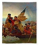 Washington Crossing The Delaware Emanuel Leutze 1851 Fleece Blanket