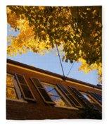 Washington D C Facades - Reflecting On Autumn In Georgetown  Fleece Blanket