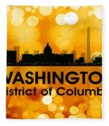 Washington Dc 3 Fleece Blanket