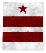 Washington D.c. Flag Fleece Blanket
