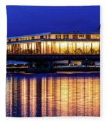 Washington D.c. -kennedy Center Fleece Blanket