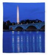 Washington D.c. - Memorial Bridge Fleece Blanket