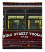 Washington Dc Trolley Fleece Blanket