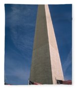 Washington Dc Washington Monument  Fleece Blanket