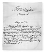 Washington: Journal, 1781 Fleece Blanket