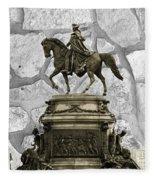 Washington Monument At Eakins Oval Fleece Blanket